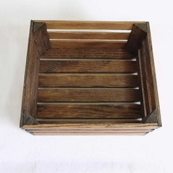 Reclaimed Wooden Storage Crate