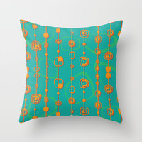 Vintage lines Throw Pillow by Tony Vazquez