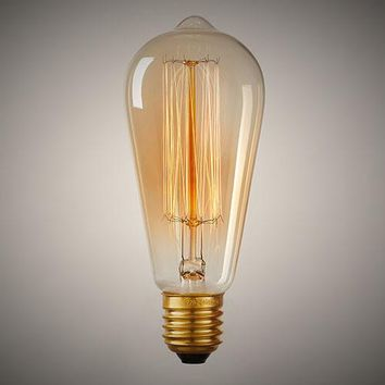 Retro ST64 Edison Bulb 110V 220V E26 E27 40W 60W Incandescent Bulbs Vintage Filament Bulb Edison Light Tungsten Lamps