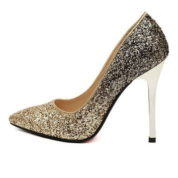 Gradient High Heel Pointed Toe Shoes = 4814729924
