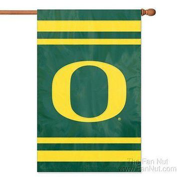 Oregon Ducks 2-sided 28x44 Embroidered Applique Banner Flag University of