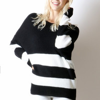 Friday Slouchy Striped Sweater