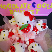 Hello! Cute Kitty Plush Doll Flower Bouquet. Japanese Cartoon Fan's great birthday gift