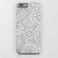 Circle Doodle Art iPhone & iPod Case by Kate & Co.