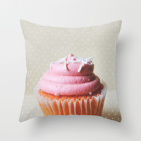 Sweeter than cupcakes Throw Pillow by Allyson Johnson