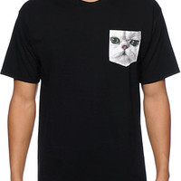 A-Lab Meow What Black Pocket Tee Shirt at Zumiez : PDP