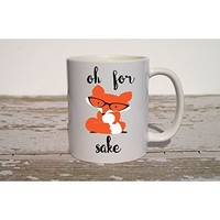 I Don't Give Two Foxes Mug, Funny Coffee Mug, Funny Christmas Gift, White Elephant Christmas