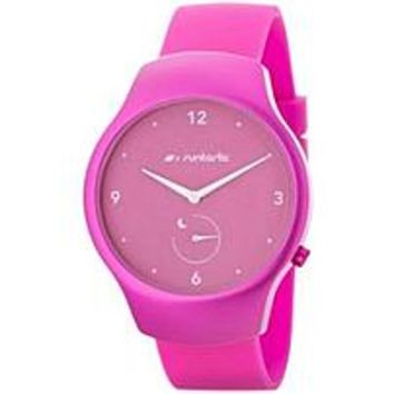NOB Runtastic Moment Fun - Activity Tracker - Calories Burned - Bluetooth -  Raspberry - Aluminum Case / Silicon Band, Glass, Mineral Crystal - Health & Fitness - Water Proof