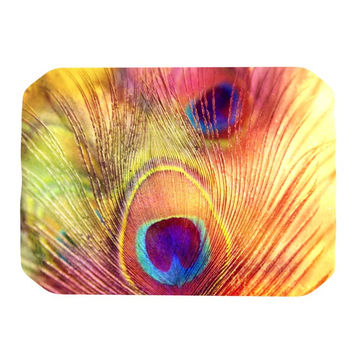 """Sylvia Cook """"Peacock Feather"""" Place Mat"""