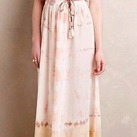 Anthropologie $178 Blushed Shibori Cover-Up Dress Silk by Gypsy05 S and SP - NWT