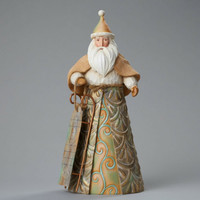 Enesco Jim Shore River's End Santa with Sled NIB #4048055