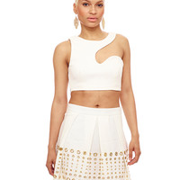 WHITE HOT NIGHTS PLEATED SKIRT