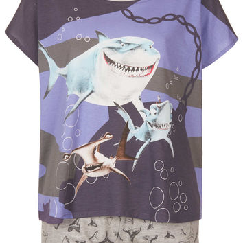 Nemo Shark Print Pyjama Set - New In This Week - New In - Topshop USA