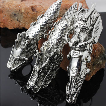 Best Quality Antique Color Claw Full Finger Knuckle Armor Gothic Dragon Biker Ring FOR NIGHT PARTY