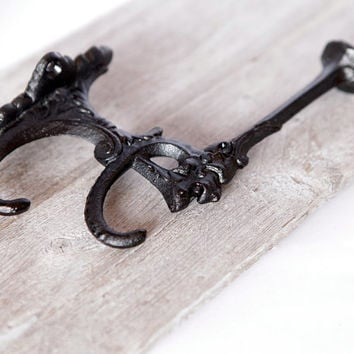 Cast Iron Lion Head Coat Hook, Entryway Coat Hook, Antique and French Style Wall Hooks