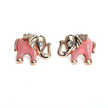 Baby Elephant Fashion Stud Earrings