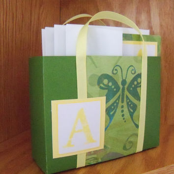 Personalized Tote Bag with 4 matching blank cards by SuperCraftyLady from Etsy