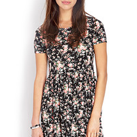 FOREVER 21 Wild Rose Fit & Flare Dress