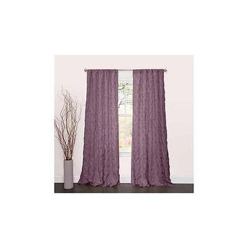 Lush Decor Lake Como Window Curtain Panel, 84 By 50-Inch, Purple