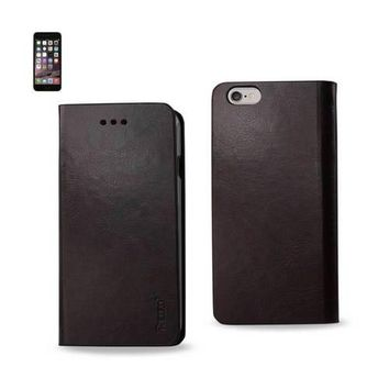 REIKO IPHONE 6 PLUS FLIP FOLIO CASE WITH CARD HOLDER IN BROWN