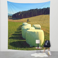 Marshmallows for cows | landscape photography Wall Tapestry by Patrick Jobst | Society6