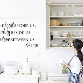 Bless the Food Before Us Vinyl Wall Decal Sticker