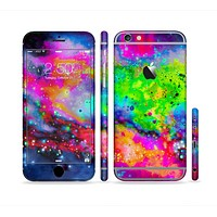The Neon Splatter Universe Sectioned Skin Series for the Apple iPhone 6