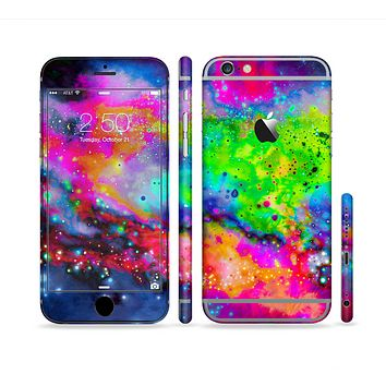 The Neon Splatter Universe Sectioned Skin Series for the Apple iPhone 6 Plus