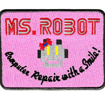 Awesome Large Ms. Robot Patch 4 inch x 3 inch fsociety Badge for Shirt Hat Cap Jacket Mr.