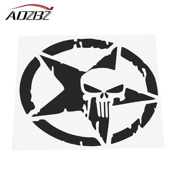 "Star Skull Car Sticker Decals Cool Window Wall Sticker Motorcycle Car Styling Accessories 4.6"" Dia."
