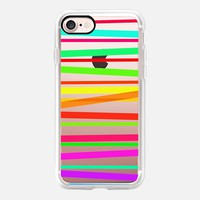 Watercolor Rainbow Stripes - Transparent/Clear style iPhone 7 Case by Lisa Argyropoulos | Casetify