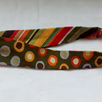 Reversible Fabric Headband - Girls Headband - Teen Headband - Womens Headband - Green Headband - Summer Headband