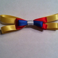 Pinocchio inspired bow  by KaleighsBowsNThings on Etsy