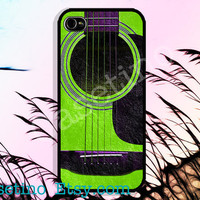 Green acoustic Guitar, Sumsung Galaxy S3,iPhone 5 Case , iPhone 4 Case , iphone 4s case , Plastic hard case, music, song