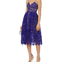 Self-Portrait Azaelea Cobalt Dress - INTERMIX®