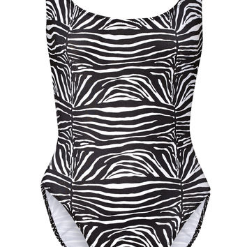 Norma Kamali - William printed swimsuit