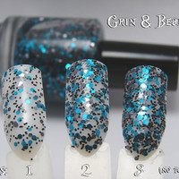 Grin & Bear It - Custom Glitter Nail Polish Alice in Wonderland Cheshire Cat