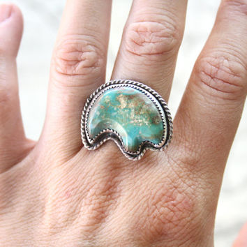 Native American Bear Ring Set In Sterling Silver