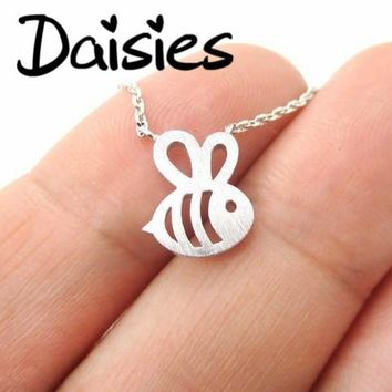 Daisies 1pc Fomous Jewelry Bumble Bee Necklace Shaped Cute Insect Charm Pendant Long Necklace for girls
