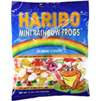 Haribo Gummies - Mini Rainbow Frogs - 5 oz - 3 ct