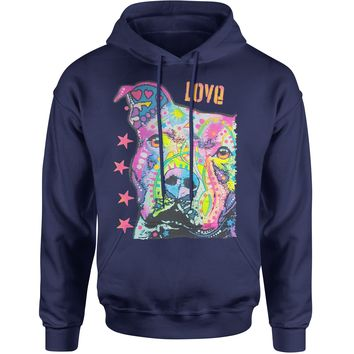 Pitbull Love Graffiti  Adult Hoodie Sweatshirt
