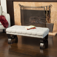 Christopher Knight Home Scarlette Tufted Fabric Ottoman Bench | Overstock.com Shopping - The Best Deals on Benches