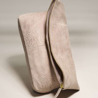 Suede Fold-Over Clutch - Topshop