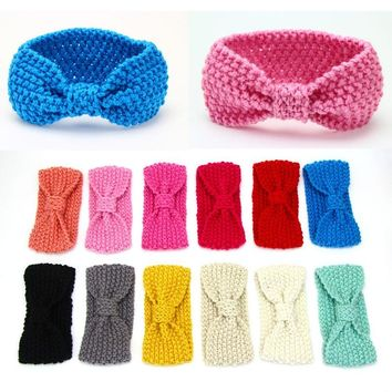 New Fashion Baby Girl Knit Crochet Turban Headband Warm Headbands Hair accessories For Newborns Hairband Kids Child Headwear
