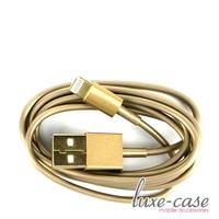Luxury Gold iPhone 5S Charger Cable Lightning Pin USB | Gold USB iPhone 5s Charger
