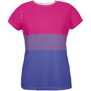 LGBT Bisexual Pride Flag All Over Womens T Shirt