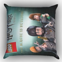 Harry Potter Lego Z1399 Zippered Pillows  Covers 16x16, 18x18, 20x20 Inches