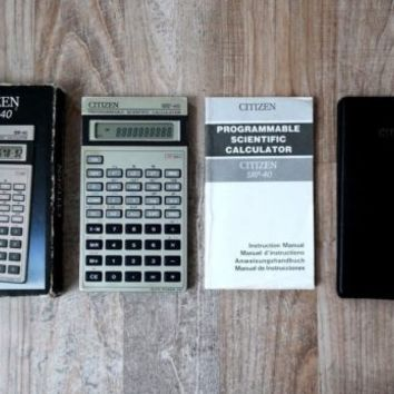 CITIZEN SRP-40 Programmable Scientific Calculator - SUPER RARE SHARP OEM version