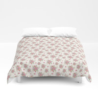roses and peonies Duvet Cover by sylviacookphotography
