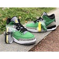 Air Jordan 3 Tinker Oregon Ducks PE Sneaker Shoes
